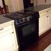 Jenn Air island range kitchen