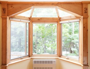 This was an existing  Pella Bay Window that we transformed into a solarium roof.