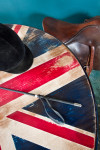 Our Union Jack table is hand-painted with enamel and marine varnish